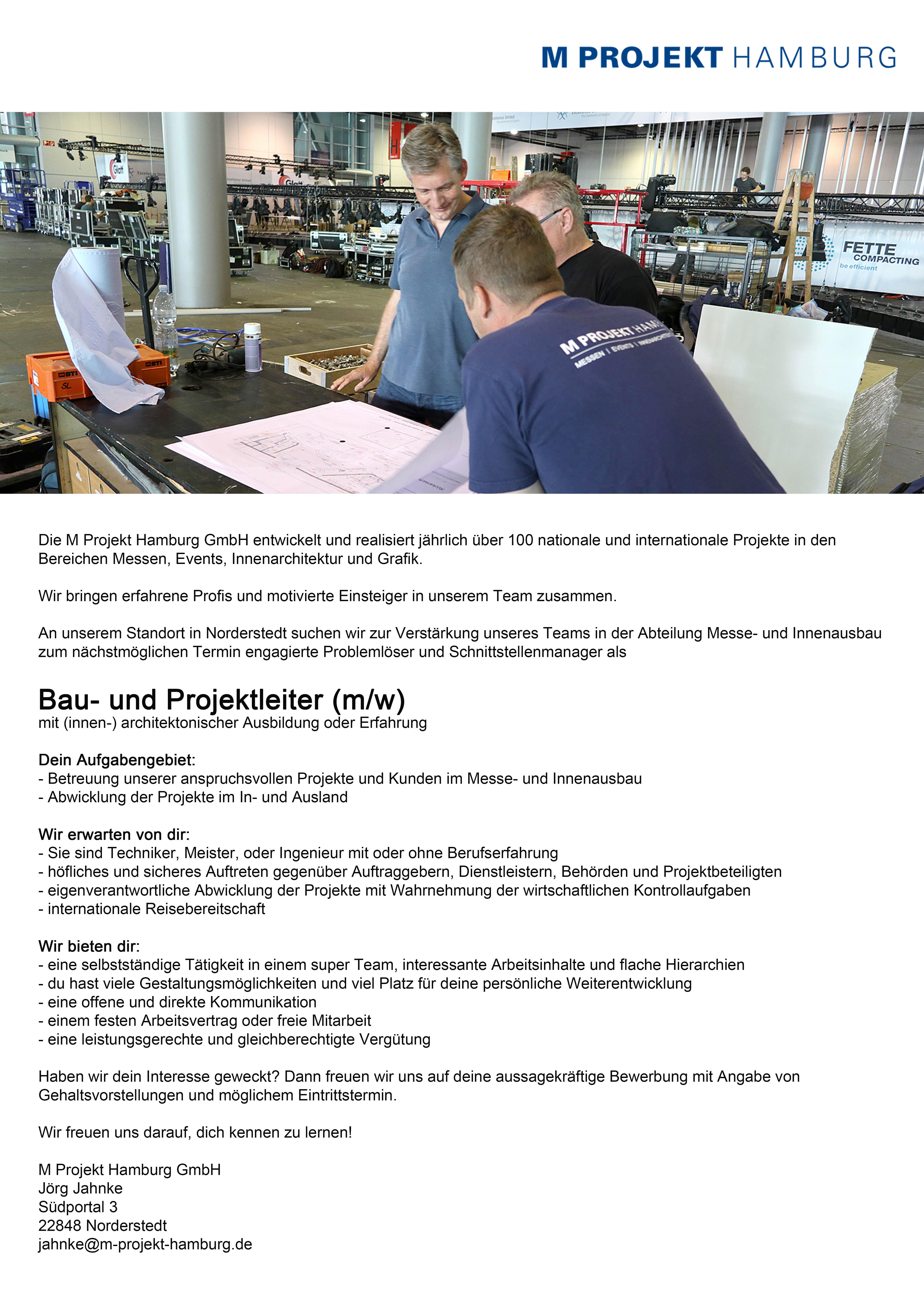 Jobs   M Projekt Hamburg   Messen. Events. Innenarchitektur. Grafik.